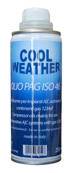 Oil Pag For Refrigerant 1234Yf equal to ND 12 250 Ml (mechanical  compressors)